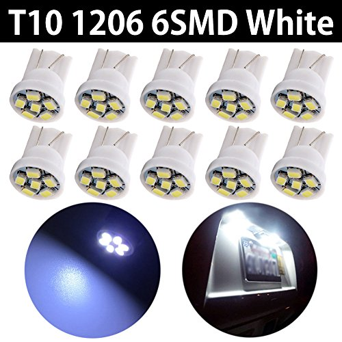 3smd Car Truck Side Marker carte d/ôme Tableau de bord de signal ampoules LED DC 12/ V lot Taben 90/ lumens Blanc LED T10/ 2825/ W5/ W 194/ 168/ 158/ 192/ 161/ 921/ Wedge Replacemet ampoules LED 7014