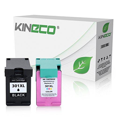 Preisvergleich Produktbild 2 Kineco Tintenpatronen kompatibel zu HP 301XL 301 XL für HP Deskjet 2540, Envy 4500 e-All-in-One, Deskjet 1510, OfficeJet 4630, Deskjet 1010, Envy 5530 eAIO, Officejet 4632 e-All-in-One - Schwarz 20ml, Color 21ml
