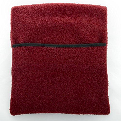 Hotties, Burgandy Rot Polyester Fleece Mikrowelle Flasche - Chill-fleece