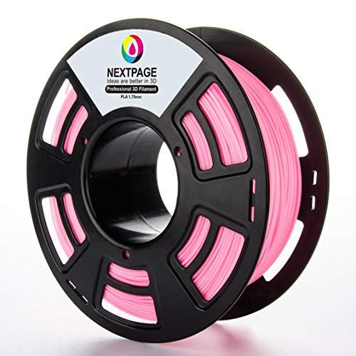 Nextpage 3D PLA Filament 1.75mm 1 KG für 3D Drucker Pink Rosa - G Spule Stift