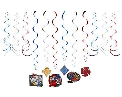 Power Rangers Ninja Steel Swirlgirlande 12 teiliges Girlanden Set (Party Power Rangers Supplies)