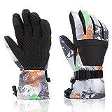 Azornic - Guantes de esquí, para pantalla táctil, impermeable, guantes de esquí de invierno más...