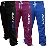 XXR Deluxe Fleece Joggers Tracksuit Bottom Gym Fitness Exercise Casual Jogging (Blue ,Maroon,Black)