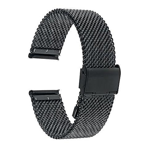 TRUMiRR 20mm Uhrenarmband Milanese Edelstahl-Band für Samsung Gear S2 Classic R732 R735, Moto 360 2 42mm Herren, Pebble Zeit rund 20mm,Bradley Zeitmesser, Garmin Vivomove, 40mm Daniel Wellington