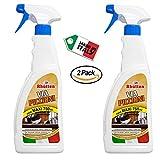 Rhutten 2 x Spray Repellente Via Piccioni Uccelli 750 ml- per Educare Disabituare Volatili Piccioni Uccelli Randagi - Uso Esterno