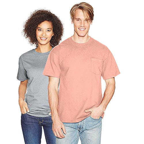 Hanes Men's Beefy-T T-Shirt With Pocket Candy Orange