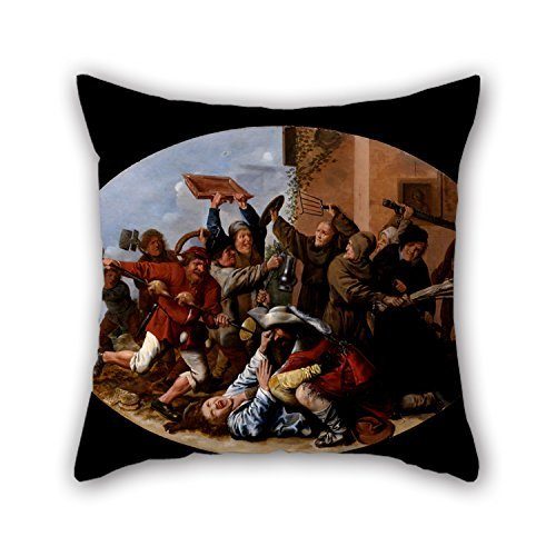beautifulseason 20 X 20 Inches / 50 by 50 cm Oil Painting Molenaer, Jan Miense - Battle Between Carnival and Lent Cushion Cases Twice Sides Ornament and Gift to Boy Friend Living Room Bedding Chair -