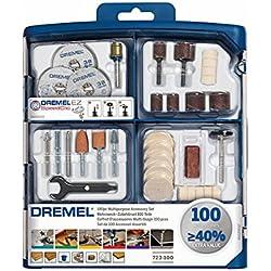 Dremel SC723 EZ SpeedClic Kit - Coffret de 100 Accessoires pour Outil Multifonction Rotatif pour Découper, Poncer, Graver, Meuler, Nettoyer, Sculpter et Polir