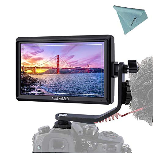 FEELWORLD FW568 5.5 Inch 4K DSLR Camera Field Monitor IPS Full HD 1920x1080 Support HDMI Input Output Tilt Arm Power Output -