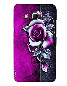Omnam Purple And Black Rose Effect Printed Designer Back Cover Case For Samsung Galaxy Core Prime G360