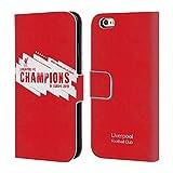 Head Case Designs Officiel Liverpool Football Club Europe Six Fois 4 2019 Champions Coque en Cuir PU à Portefeuille Compatible avec iPhone 6 / iPhone 6s