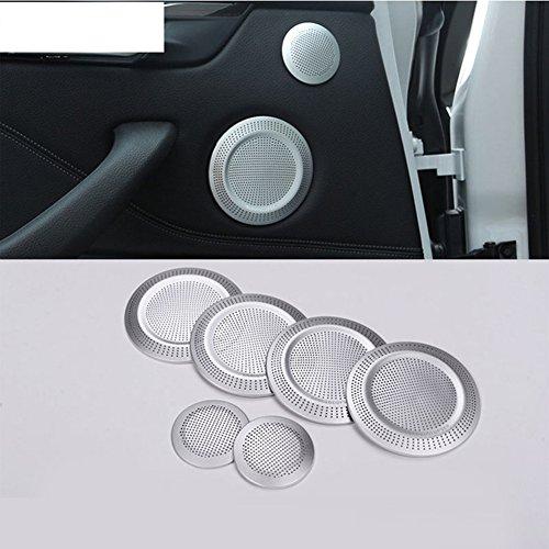 car-styling Tür Aluminium Legierung Lautsprecher Verkleidung Chrom Aufkleber Zubehör 6pcs/set