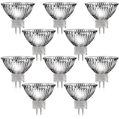 Juego de 10Briloner–Foco halógeno reflector (Casquillo GU5,3de color blanco cálido, 12V ca, 20W, Bombilla, Bombilla, presupuesto Pack, 12V, 20W) [Clase energética C]