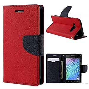 OnePlus Two Mercury Style Flip Cover by Cover Wala - Red