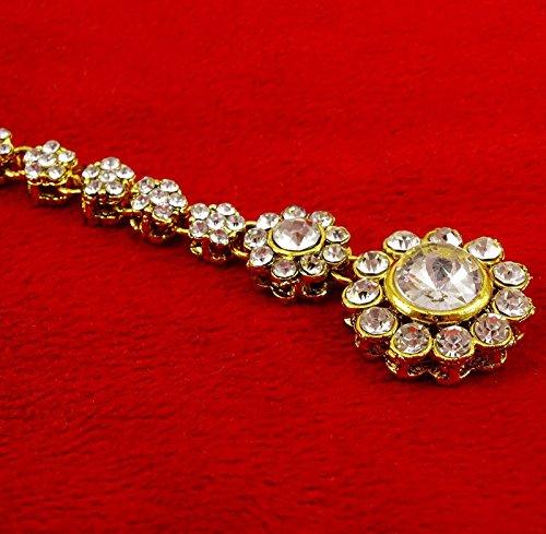 Banithani indien tikka mariage front cadeau de bijoux bollywood maang pour les femmes or 12