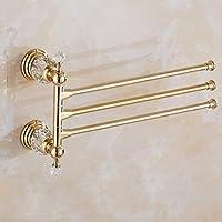 Corta la varilla giratoria múltiples polos toallas toallas,baño ducha baño Toalla Toallero percha pilones Vestidor Percha Toalla de baño Wc Polo Hardware oro colgante muebles Accesorios de Baño( tamaño : #3 )