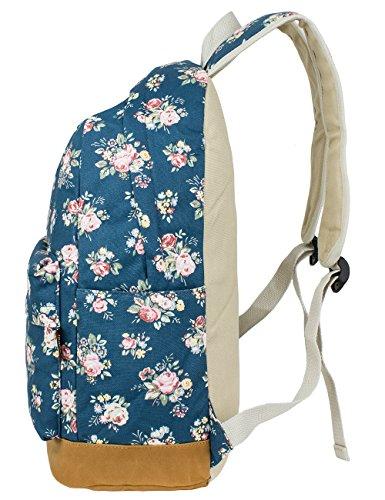 Leaper Cute Preschool Book Bag Girls Laptop Backpack for Kids Daypack Rucksack Flower Blue
