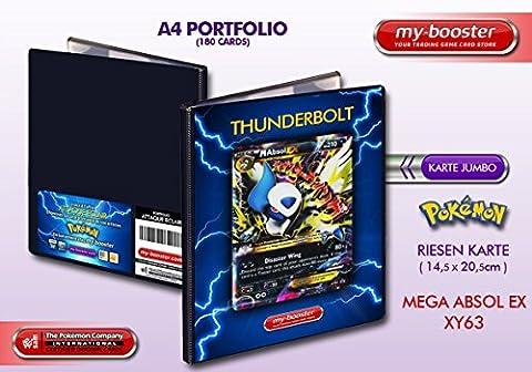 Portfolio Pokemon MEGA ABSOL EX XY63 (PROMO) 210HP XY06 - Rangement 180 cartes - Format A4