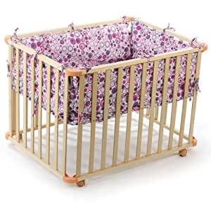 baby vivo parc pour bebe rectangulaire 100x75 violet b b s pu riculture. Black Bedroom Furniture Sets. Home Design Ideas