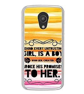 Fiobs Designer Back Case Cover for Motorola Moto G2 :: Motorola Moto G (2nd Gen) (Love Lovely Madness Greatest Heaven Blessings Quotes)