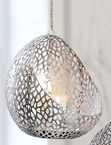 Windlicht Purley antik-silber, Metall, H. 25 cm, B. 25 cm