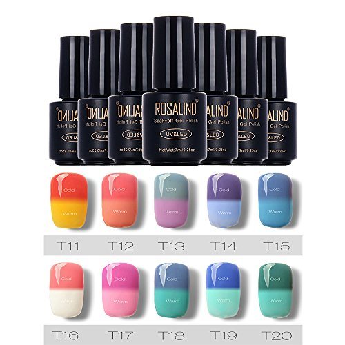Vernis à ongles Longra 7ML changer de couleur Gel Vernis à ongle UV LED Gel Polish (1_E) 2_E