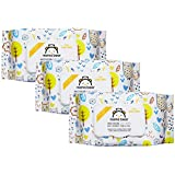 Amazon Brand - Mama Bear Premium Moisturizing Baby Wet Wipes - 72 wipes/pack (Pack of 3, With Lid)