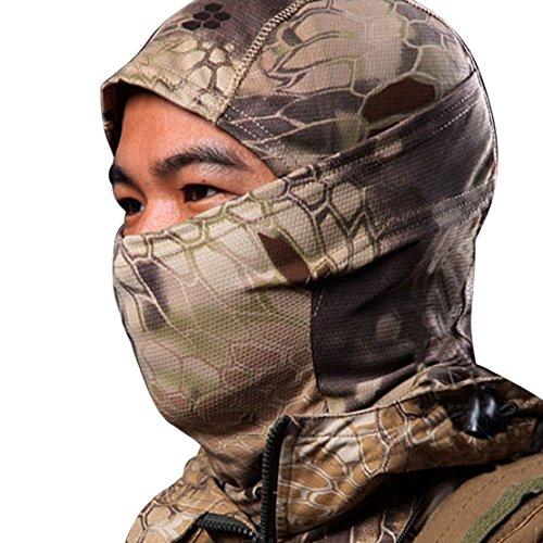 Tonsee Männer Special, Hot Verkauf Männer Hut Camouflage Army Radfahren Motorrad Mütze Balaclava hats voll Gesichtsmaske (braun)