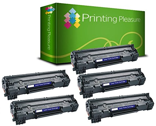 Printing pleasure 5 toner compatibili cf283a 83a cartuccia laser per hp laserjet pro mfp m125a m125nw m126a m127fn m127fw m128fn m128fw m225dn m225dw m201dw m201n m202dw m202n - nero, alta resa
