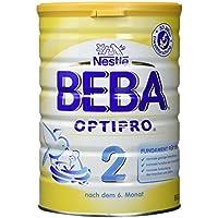 Nestlé BEBA OPTIPRO 2   Folgemilch für Säuglinge   Nach dem 6. Monat   mit Omega 3 & 6 Fettsäuren   Eisen und Vitamin D   6er Pack (6 x 800 g)
