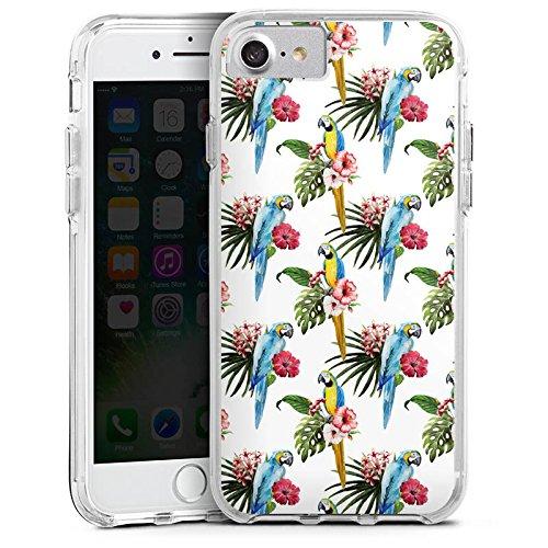 Apple iPhone 6s Bumper Hülle Bumper Case Glitzer Hülle Papagei Vogel Bird Bumper Case transparent