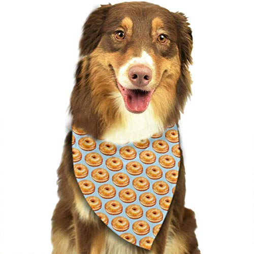 Rghkjlp Bagel Food Funny Pattern Pet Bandana Washable Reversible Triangle Bibs Scarf - Kerchief for Small/Medium/Large Dogs & Cats Womens Reversible Fleece