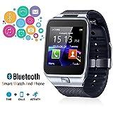 Pandaoo dz09Bluetooth Smart Watch mit Kamera für Samsung, HTC, Sony und andere Android Smartphone Schrittzähler Fitness Sleep Monitor Anti-Lost Freisprecheinrichtung Call Nachricht Fernbedienung Benachrichtigt, (schwarz)