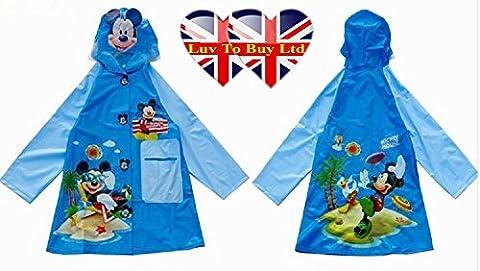 Enfants Imperméable, Mickey Mouse Imperméable / imperméable. (4 tailles: S, M, L, XL) (petit)