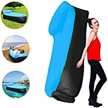 Sofa Hinchable tumbona inflable cama con almohada integrada,portátil impermeable 210T poliester aire sofá inflable