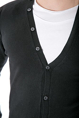 IMPERIAL - Homme cardigan manches longues m553b4 Noir