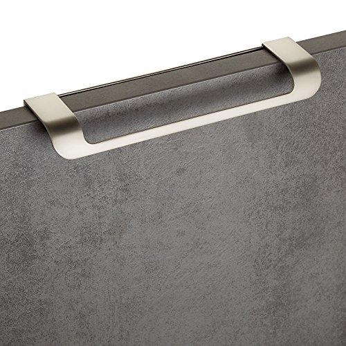 10 x Möbelgriff LYS BA 160 mm Edelstahloptik matt Schubladengriff Küchengriff Falttürengriff von JUNKER DESIGN