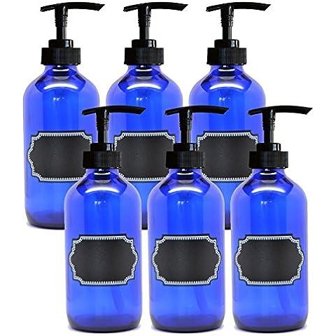 Firefly Craft–Bomba de cristal botella con etiquetas adhesivas de pizarra, 8onzas cada