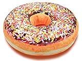 Alsino Donut Kissen Doughnut Dekokissen Sitzkissen Kuschelkissen Donutkissen groß, Variante wählen:Ki-d05 bunte Streusel Schoko