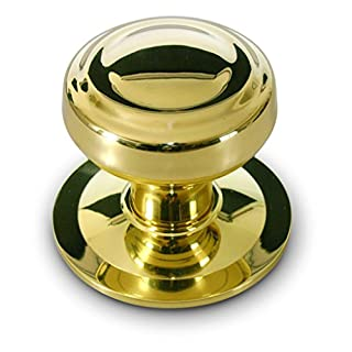 Anzapack 812459h Door Knob – For Front Door - Lathed in Golden Brass.
