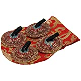 Dharmaobjects Belly Dancing OM Namah Pro doigt Zills ou Cymbales Red