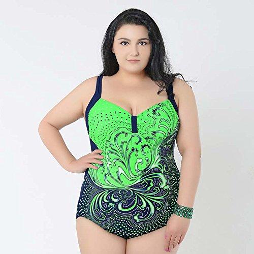 XL-übergewichtige Menschen kleiden einteilige Bikini-Badeanzug 56 grün