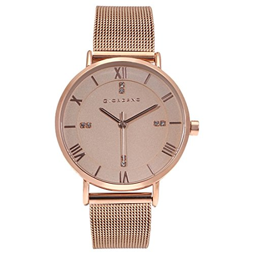 Giordano Analog Rose Gold Dial Women's Watch - A2065-22