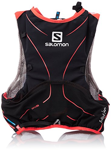 Salomon S-Lab Advanced Skin Backpack - Mochila de Hidratación para Running,  Set de 5, color Negro/Rojo, talla X-Small/Small