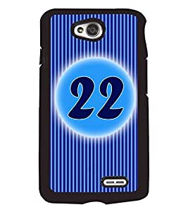 Fuson 2D Printed Numerology Designer back case cover for LG L70 - D4242