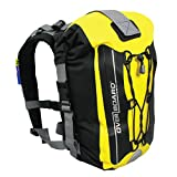 OverBoard Premium Waterproof Backpack | 20 Liter Floating Pack | 100% Waterproof Dry Bag with 2-Way Roll Top Sealing System (Yellow)