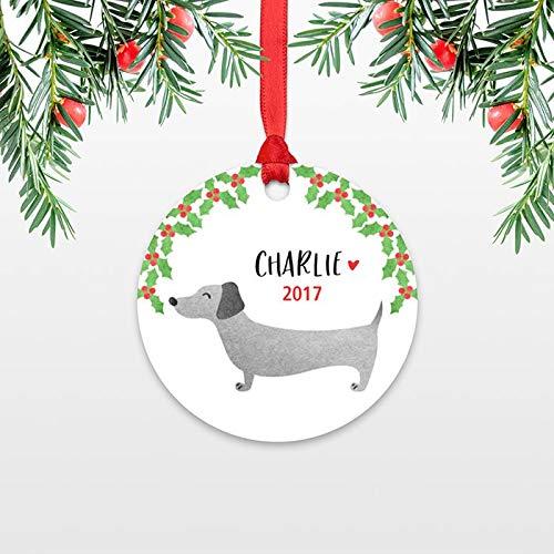 C-us-lmf379581bassotto personalizzata bambini natale ornamento childs name exchange ideas wiener dog calza della befana. per uomo donna