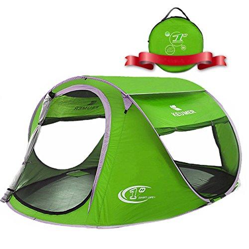 ZOMAKE Plegable Tienda de Playa para 3-4 Personas, Portatil Pop Up Tienda de Playa para Bebé Protección Solar Anti UV 50+ (Verde)