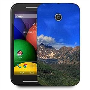 Snoogg Abstract Dark Blue Sky Designer Protective Phone Back Case Cover For Motorola E2 / MOTO E22