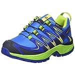 Salomon Unisex-Kinder Xa Pro 3d Cswp J Outdoor-Multisport-Schuhe, Blau (Union Blue/Blue Yonder/Granny Green), 35 EU